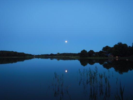 Rille, Frankreich: Vue du lac, autour du camping