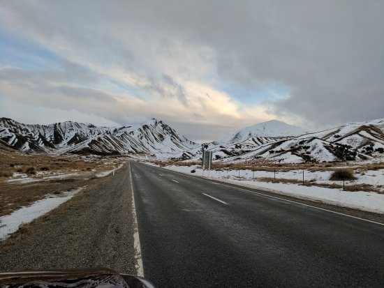 Omarama, Nueva Zelanda: Amazing Lindis Pass during Winter