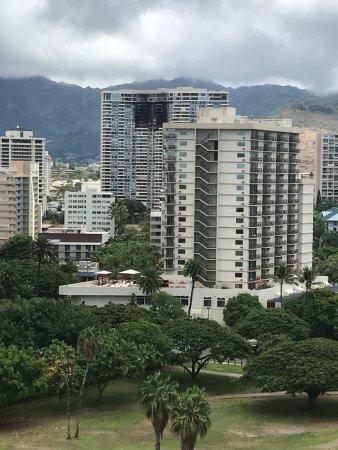 Hale Koa Hotel: City view, apartment fire was July 2017
