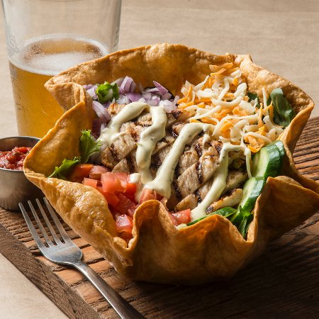 St. Louis Wings and Ribs: Tostada Chicken Salad