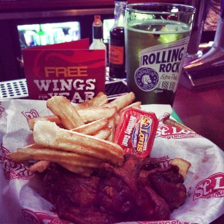 St. Louis Wings and Ribs: Our Famous Wings and Fries