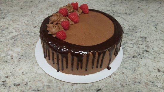 New Hartford, NY: Chocolate Raspberry cake with Chocolate Ganache