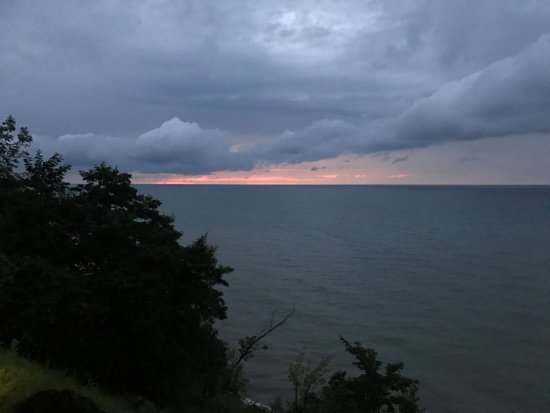 Sodus Point, NY: sunset after the pouring rain