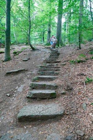 Burg Hohenbaden: weitere Felsentreppe