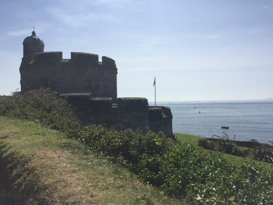 St Mawes, UK: View of the Castle