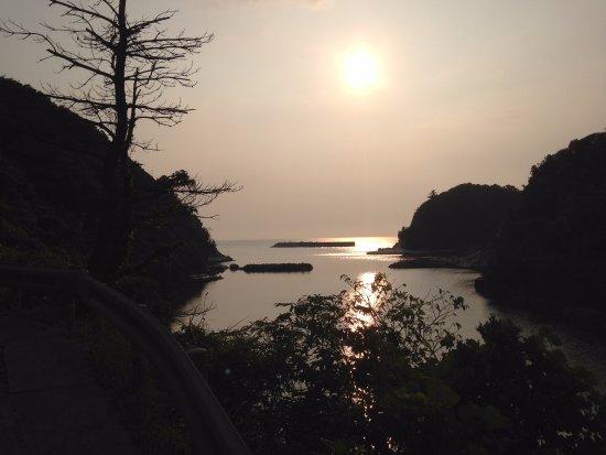 Yunotsu Onsen: 沖泊からの夕日
