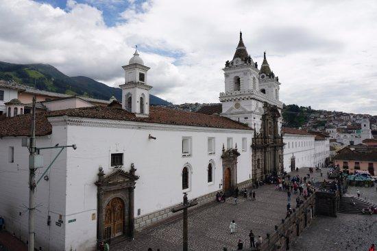 Casa Gangotena: view from our window