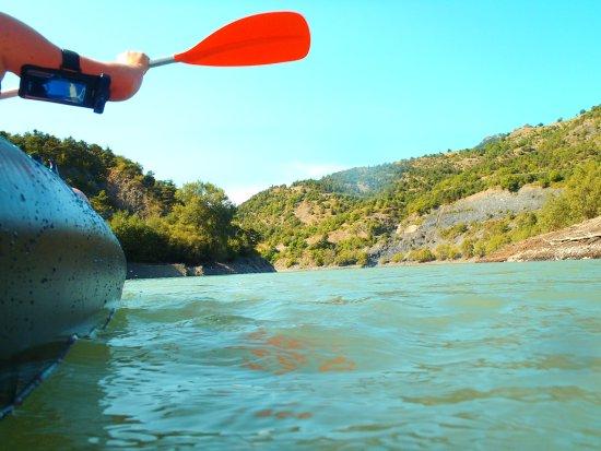 St Vincent les Forts, Frankrig: promenade en kayak vers l'embouchure de l'Ubaye