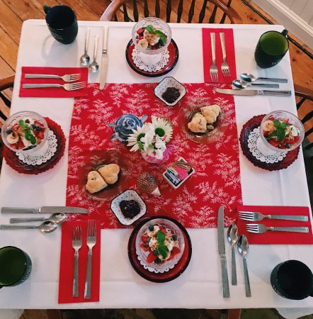 Weston, VT: A breakfast table setting for four!