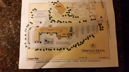 Heritage Hotel: Map of hotel and restaurant