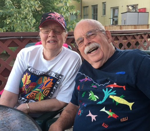Sandpoint, ID: Two happy diners from California