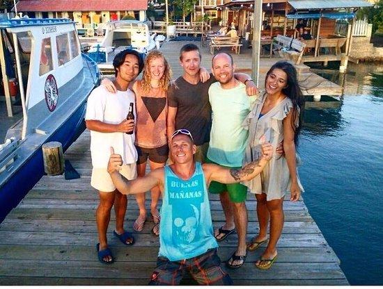 Utila, Honduras: Sascha and the dive buddies