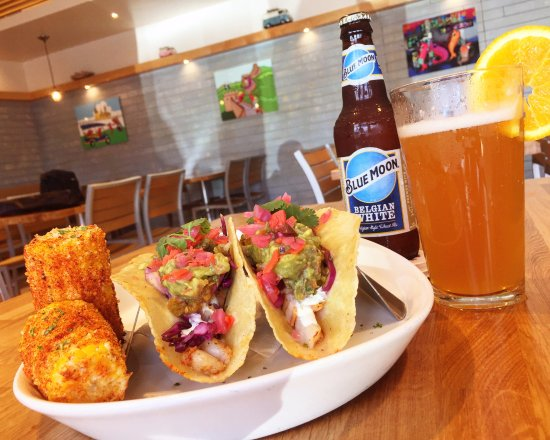 Shrimp Tacos with Blue Moon Belgian White