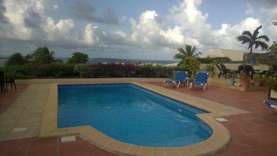 Club Fantastico: The pool deck and patio, far right