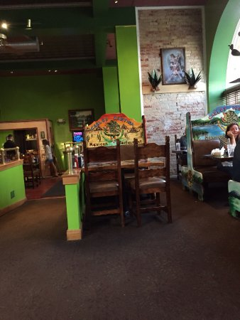 Carlos Cantina: Seating...each booth has unique artwork.