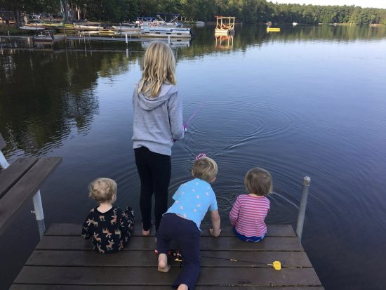 Saint Germain, WI: Hanging out on the dock!