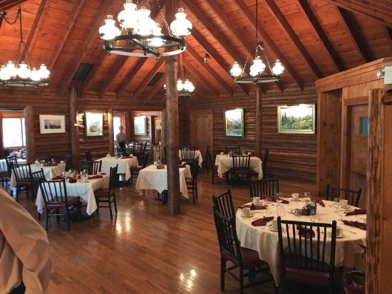 Jenny Lake Lodge: Main dining room