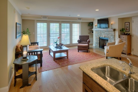 The Residences at Biltmore: Shows the living area from the kitchen.
