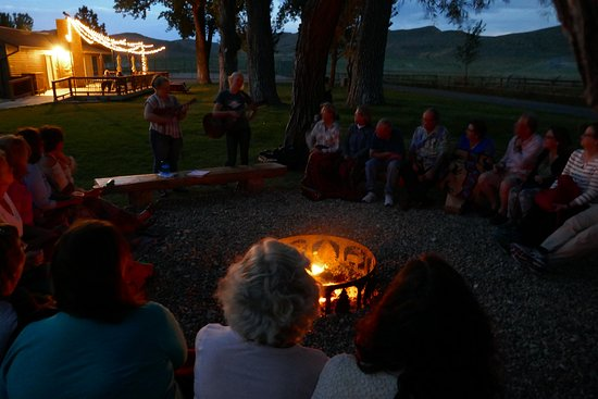 Ranch at Ucross : Camp fire
