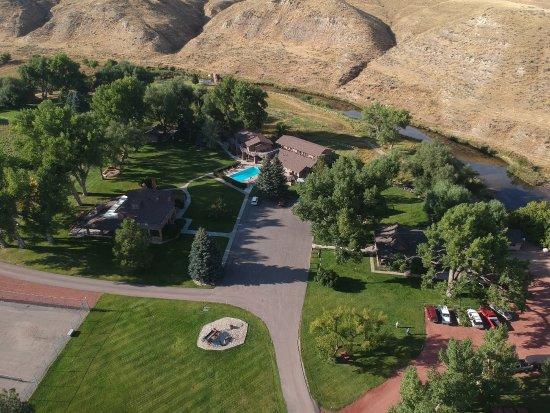 Clearmont, WY: The ranch from above
