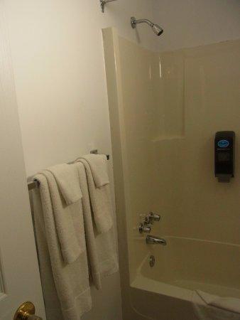 レインボー モーター イン, 最初蛇口から湯水が出て,ボタンを押すとシャワーに切り替わり,止水すると自動的に蛇口からの水に切り替わる