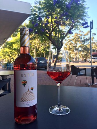 Guildford, Australia: Spanish Rose wine at the front alfresco