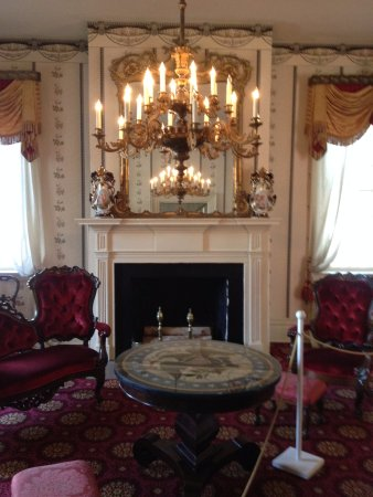 President James K. Polk Home & Museum: Living Room #1 Notice the table