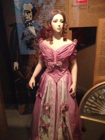 President James K. Polk Home & Museum: Mrs. Polk's gown (reproduction)