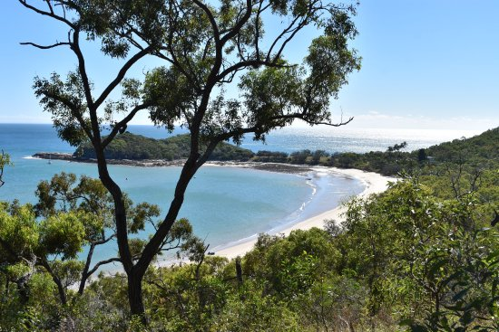 Great Keppel Island, Australia: Svendsens Beach from walking track behind accomodation