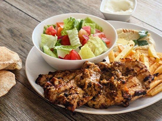 mezza lebanese kitchen half grilled chicken plate - Lebanese Kitchen