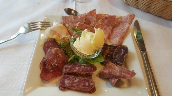 Pietraporzio, Italy: Salumi misti suino/ovino