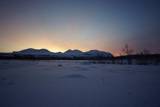 Vasterbotten County, Sweden: Tramonto lungo il percorso