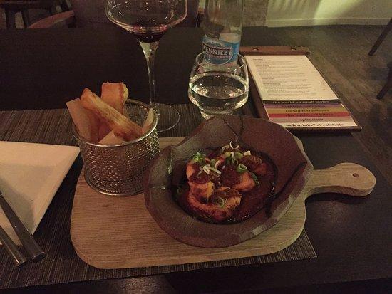 Eat Me: Togo & Mogo - chicken in a rich, spicy tomato sauce, cassava fries