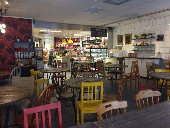 Molndal, Schweden: inne i caféet