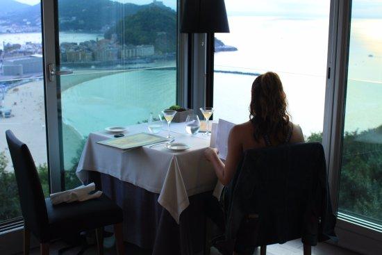 Mirador De Ulia Corner Table With A View Over San Sebastian