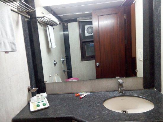 The Shipra International: Wash room mirror and wash basin