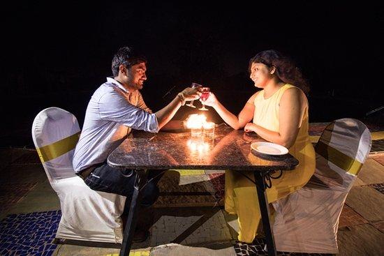 Dholikui, India: Candle light Dinner