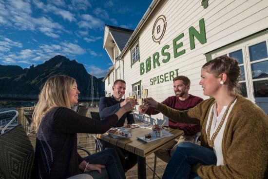 Borsen Spiseri : Enjoy great food and drinks at our outdoor seating with views to the mountains and the sea