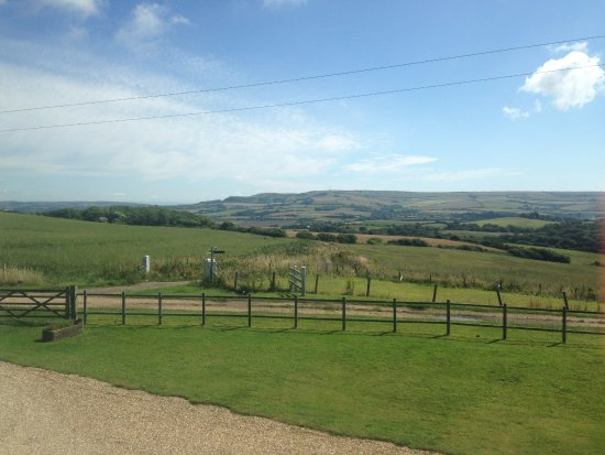 Whitwell, UK: View from the front of the B&B