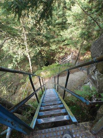 Elend, Alemania: Steile Leitern beim Aufstieg