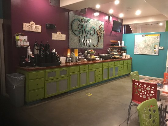 Our new style at the Gonzo Inn!! Fresh ground coffee everyday a beautiful patio to enjoy your br
