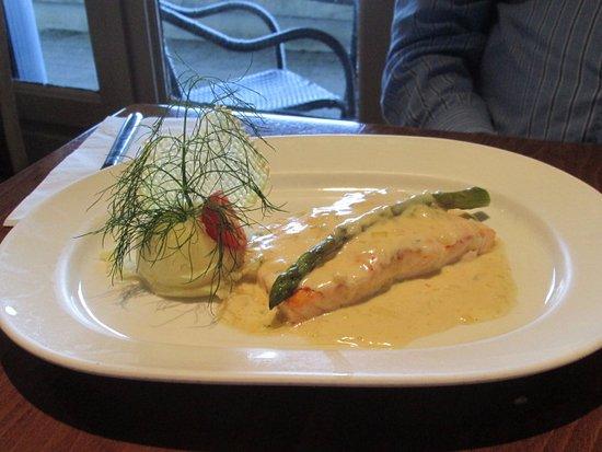 FRANZINIS: Salmon dinner at Franzini's