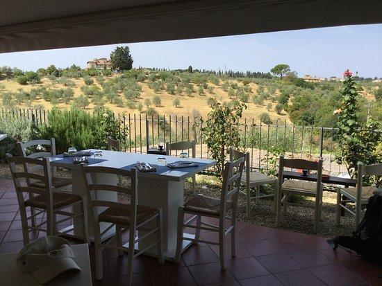 Antica Calcinaia: Terrasse