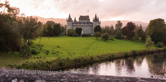 Inveraray Castle: View from the road bridge