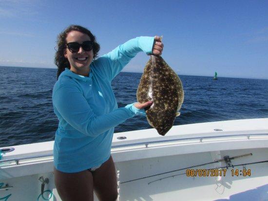 Block island fluke picture of captain sheriff 39 s fishing for Block island fishing charters