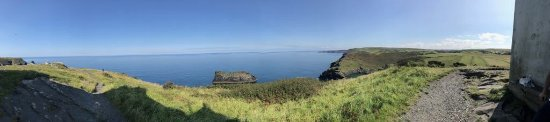 Saint Teath, UK: View from Boscastle, a 10 minute drive away