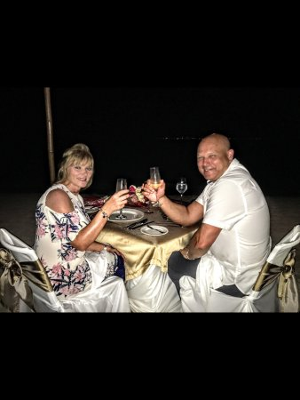 Excellence Playa Mujeres: Romantic dinner on the beach
