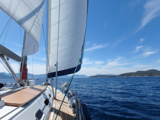 Blue Water Sailing Greece: Just another day in paradise
