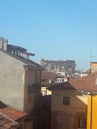 Accademia Hotel: Вид на Арену из фитнесс-комнаты