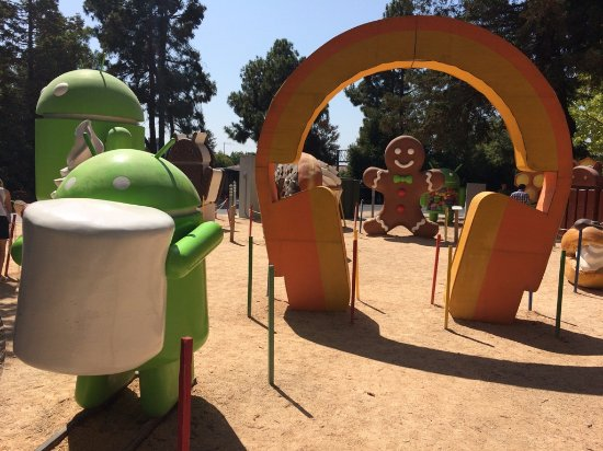 Mountain View, Kalifornien: Google Android Lawn Statues
